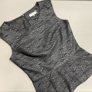 Calvin Klein Top Sleeveless Black All Over Lace XS